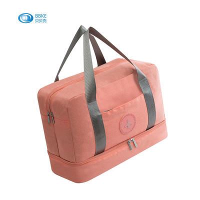High Quality Polyester Foldable Duffel Bag Lightweight Mens Luggage Bag Travel Luggage Organizer Bag With Shoes Compartment