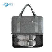 Travel Portable Duffel Bag With Storage Shoes Compartment Waterproof Sports Gym Duffel Bag