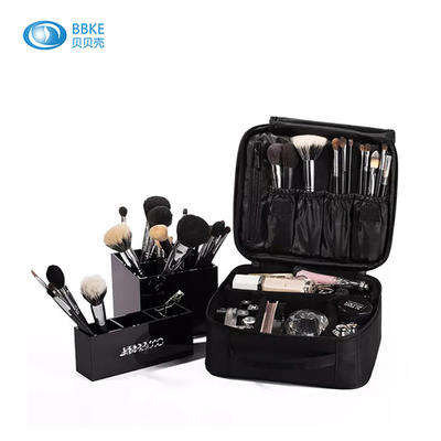 3 Layers Custom Waterproof Makeup Bags Kit Cosmetic Case, High Quality Professional Make Up Cosmetic Bags Cases