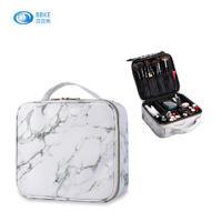 New Design Beautiful Storage Makeup Cosmetic Bag, 2020 Trendy Marble PU Stone Cosmetic Bag